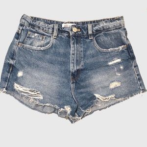 Zara Shorts - ZARA High Waisted Distressed Shorts
